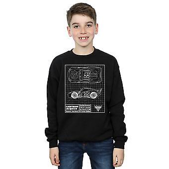 Garçons de Disney Cars Lightning McQueen Blueprint Sweatshirt
