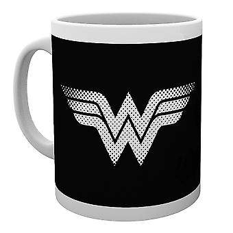 DC Comics Wonder mujer monótona logotipo taza
