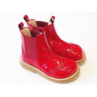 Angulus Angulus Red Patent Leather Ankle /Chelsea Boots