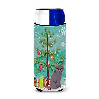 Korat Cat Merry Christmas Tree Michelob Ultra Hugger for slim cans