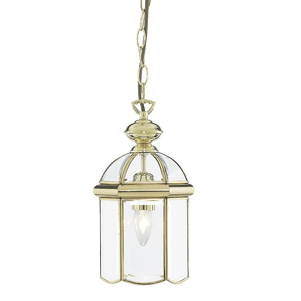 Searchlight 5131PB Solid Polished Brass 1 Light Lantern