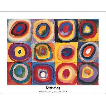 Farbstudie Quadrate 1913 Poster Print by Wassily Kandinsky (14 x 11)