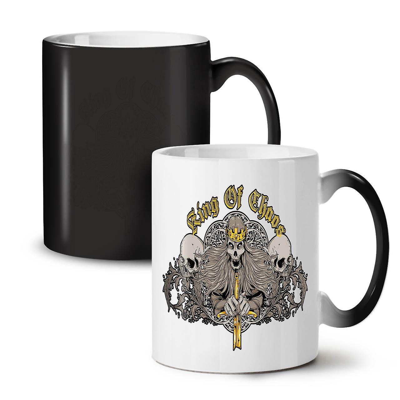 Tasse Chaos Couleur Noir Skull 11 OzWellcoda Mort Nouvelle Céramique Changeant Café Thé Roi nXOk8P0w