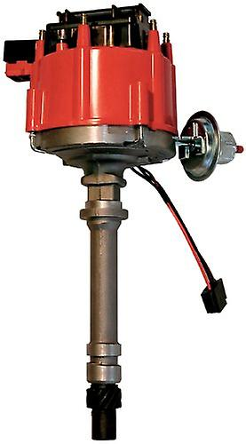 Proform 67081 Vacuum Advance HEI Distributor with Steel Gear and rouge Cap for Chevy Inline 6-Cylinder