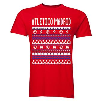 Atletico Madrid Noël T-Shirt (rouge)