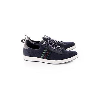 Paul Smith Shoe Mens Rabknit Knitted Trainer With Stripe Detail