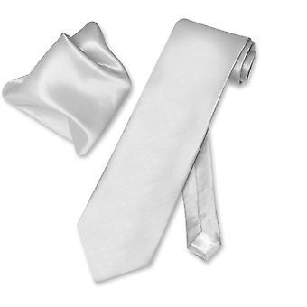 Biagio BAMBOO SILK Solid NeckTie & Handkerchief Men's Neck Tie Set