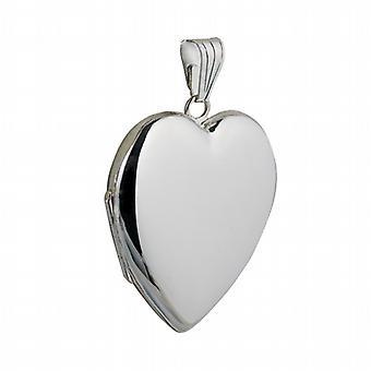 Silver 30x28mm handmade heart shaped Locket