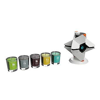 Official Destiny Ghost Candle Holder and Planet Scented Candles