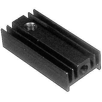 Fin heat sink 40 C/W (L x W x H) 25 x 12 x 6.5 mm TO 220 ASSMANN