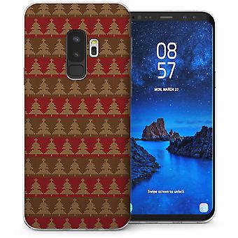 Samsung Galaxy S9 Plus juletræ striber TPU Gel sag-rød