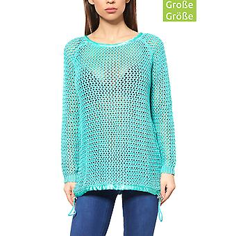 B.C.. best connections by heine ladies plus size chunky knit sweater Green