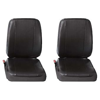 Two Single Commercial Leatherette Van Seat Covers Fiat Ducato 2002-2006