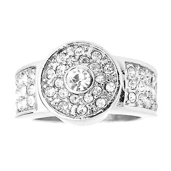 Iced out bling hip hop designer ring - BUTTON CZ