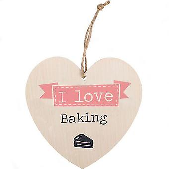 Something Different Love Baking Hanging Heart Sign