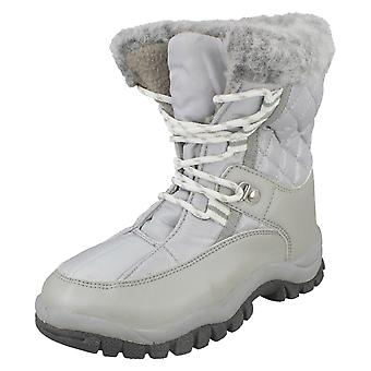 Infant/Junior Girls Spot On Lace Up Fashion Snow Boots