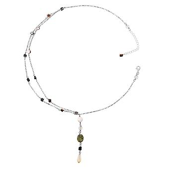 Orphelia Silver 925  Necklace 43Cm With Colered Stones  ZK-2585