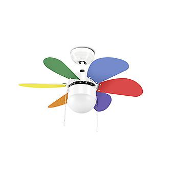 LED-C4 Design tak Fan Boracay White 76,2 cm/30