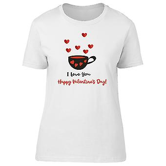 I Love You Happy Valentines Tee Women's -Image by Shutterstock
