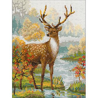 Deer Counted Cross Stitch Kit-11.75