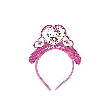 ハローキティ心子猫パーティー ティアラ カチューシャ 4 ピース子供誕生日テーマ パーティーします。