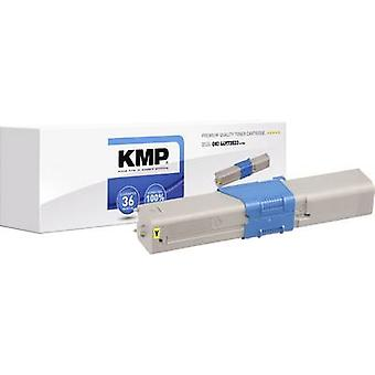 KMP Toner cartridge replaced OKI 44973533 Compatible Yellow 1500 pages O-T39