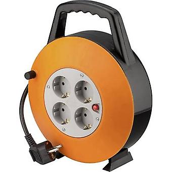 Goobay 71354 Cable reel 15 m Black PG right-angle plug