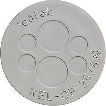 Icotek KEL-DP 32/10 Cable grommet Terminal Ø (max.) 9.4 mm Elastomer Grey 1 pc(s)