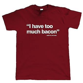 Ich habe zu viel Speck, Herren-T-Shirt