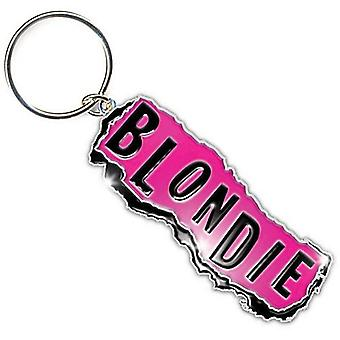 Blondie Chromed Metal Keyring