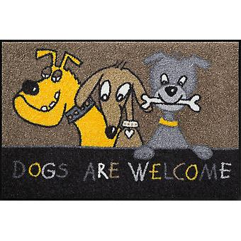 Dogs are welcome 50 x 75 cm washable floor mat Salon lion animal motif