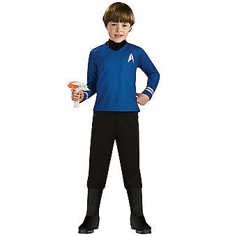 Captain Spock Deluxe Star Trek Movie Blue Shirt Space Explorer Boys Costume M