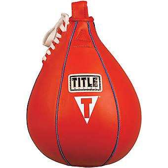 Title Boxing Leather Speed Bag - Small (6