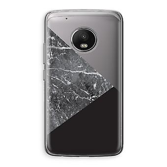 Motorola Moto G5 Transparent Case (Soft) - Marble combination