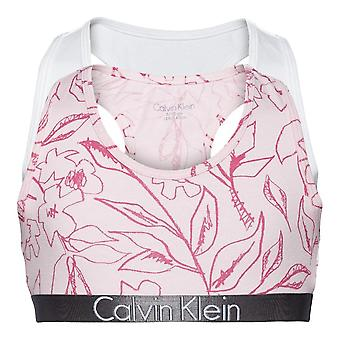 Calvin Klein meisjes 2 Pack Custmized Stretch Bralette - Crayon bloem/wit
