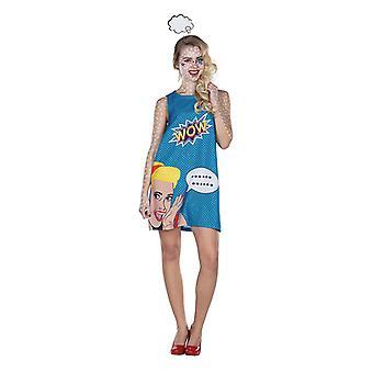 Robe pop art 70 s 80 s costume Roy Lichtenstein de pop art pour les femmes