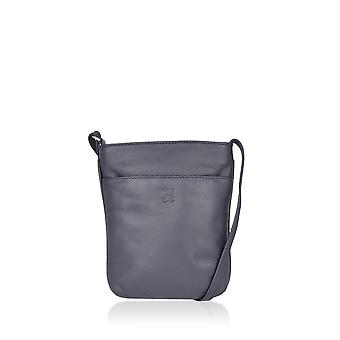 Lexi Leather Cross Body Bag in Navy