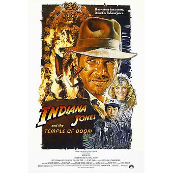 Indiana Jones Poster  The Temple Of Doom (face)
