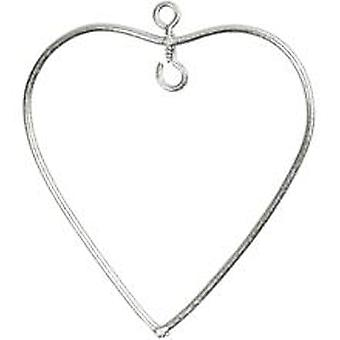 6 Small Hanging Wire Hearts for Decoration - 6cm | Metal Wire & Craft Hoops