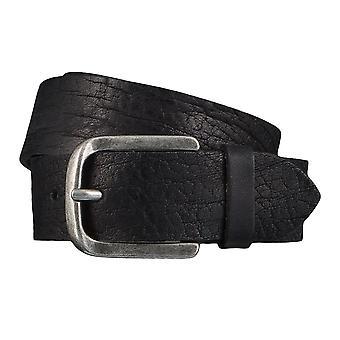 TOM TAILOR belt leather belts men's belts jeans belt black 4348