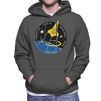 NASA STS 120 Shuttle Mission Imagery Patch Men's Hooded Sweatshirt