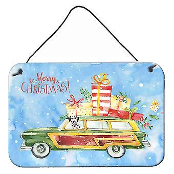 Merry Christmas Dalmatian Wall or Door Hanging Prints