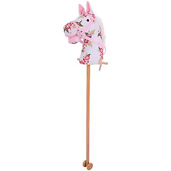 Bigjigs Toys Floral Hobby Horse with Handles, Wheels Classic Walker Walking Toy