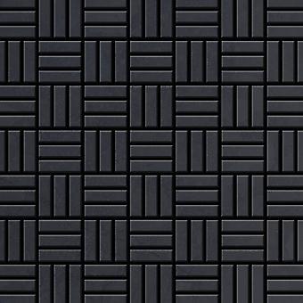 Metal mosaic Raw Steel ALLOY Basketweave-RS