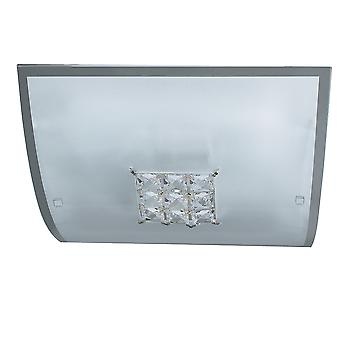 Searchlight 2150-30 Francesca Square Flush Ceiling Light