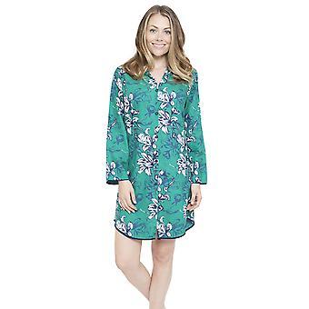 Cyberjammies 4067 Women's Rosie Emerald Green Floral Print Sleep Shirt Nighty Nightshirt