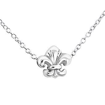 Fleur de lis - 925 sterlingsølv vanlig halskjeder - W17737X