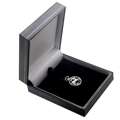 Silver 11mm pierced Capricorn Zodiac Pendant