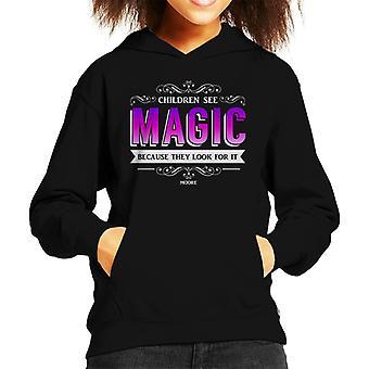 Lamb Children See Magic Quote Kid's Hooded Sweatshirt