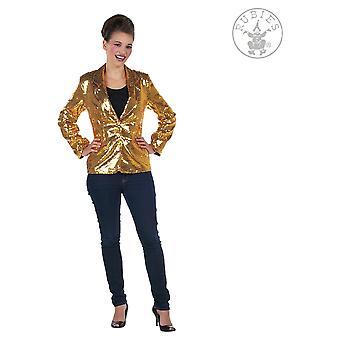 Kvinder kostumer Glitter jakke til damer guld